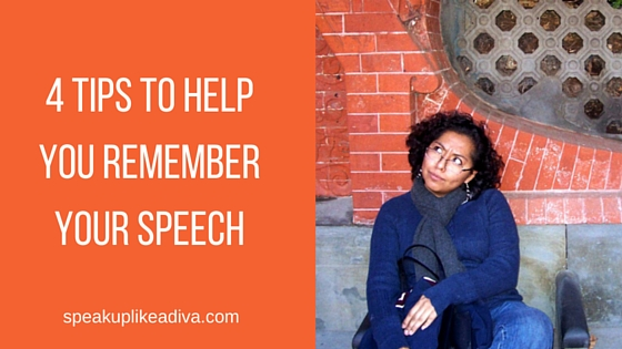 4 tips to remember speech