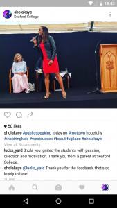 Seaford instagram testimonial