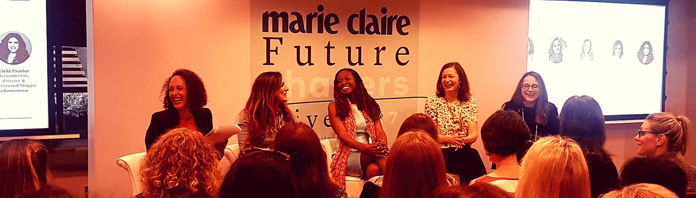 Marie Claire laughing panel filter