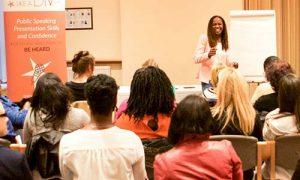 Woman keynote speaker