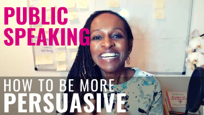 Public Speaking - How to be more PERSUASIVE