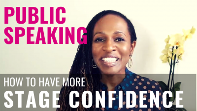 Public Speaking - How to have more STAGE CONFIDENCE