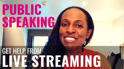 PUBLIC SPEAKING - Get help from LIVE STREAMING
