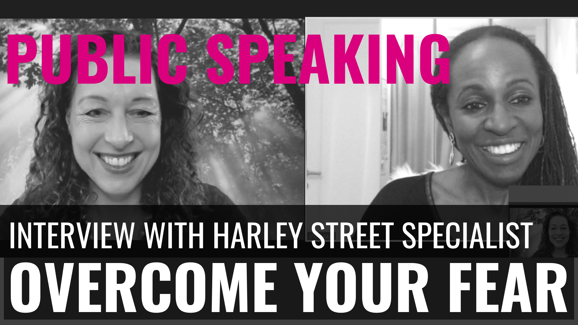 PUBLIC SPEAKING - Overcome your fear of speaking. Shola Kaye interviews Olivia James